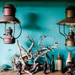Driftwood Sculptures and antique bottles at Coco Arte