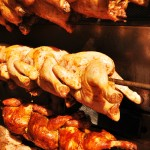 Chicken slowly roasting in it's own juices