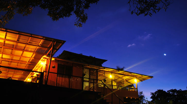 Bambu Guesthouse at night